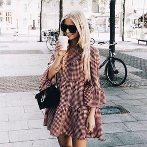 Zara Red Gingham Dress